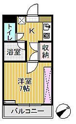 プリンスマンション[208号室]の間取り