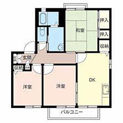 カーサA&C[2階]の間取り