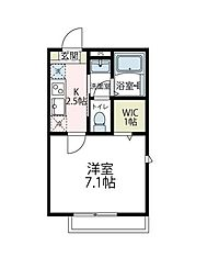 JR横浜線 小机駅 徒歩3分の賃貸アパート 1階1Kの間取り