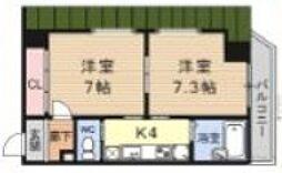 Kushige Gojo[814号室号室]の間取り