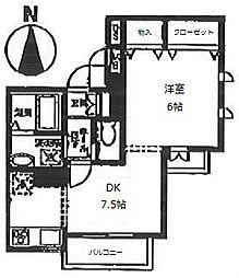 シャトルリバーサイド[2階]の間取り