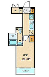 エステムプラザ愛宕虎ノ門レジデンス 4階1Kの間取り