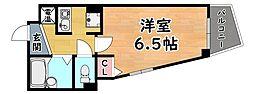 阪急神戸本線 王子公園駅 徒歩1分の賃貸マンション 4階1Kの間取り