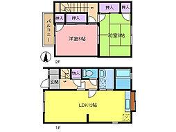 [テラスハウス] 埼玉県春日部市中央7丁目 の賃貸【/】の間取り