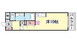 S-FORT 神戸神楽町[508号室]の間取り