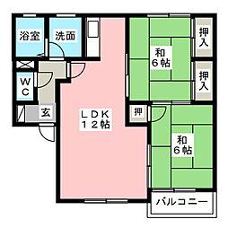 ファミーユ16 A棟[2階]の間取り