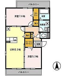 グランドアトリオ神戸西 B棟[1階]の間取り