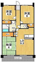 グランデ・アルヴォーレ3番館[3階]の間取り