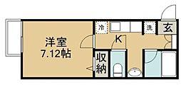 埼玉県鶴ヶ島市新町2丁目の賃貸アパートの間取り