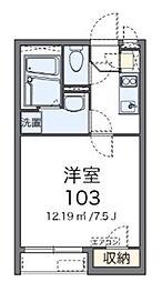 東京都調布市多摩川2丁目の賃貸アパートの間取り