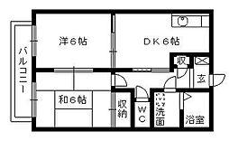 クリエートN[B203号室]の間取り