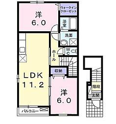 ル・サンティエA[2階]の間取り