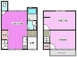 [一戸建] 奈良県大和高田市日之出西本町 の賃貸【奈良県 / 大和高田市】の間取り