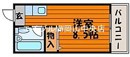 竹原ハイツ[2階]の間取り