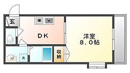 オリンピアエース A棟[1階]の間取り