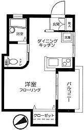東京都文京区本駒込4丁目の賃貸マンションの間取り
