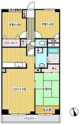 ルーレル大和田[4階]の間取り