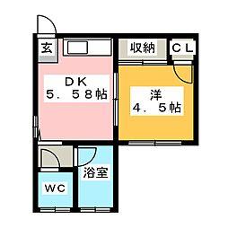 MK荘駒方[1階]の間取り