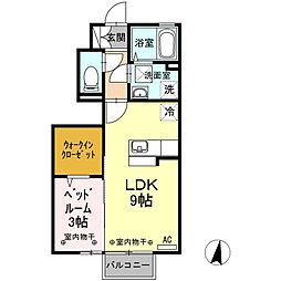 D-room北の森[1階]の間取り