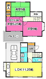 [一戸建] 埼玉県所沢市大字北岩岡 の賃貸【/】の間取り