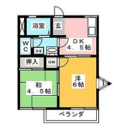 SAKYO大坪町[2階]の間取り