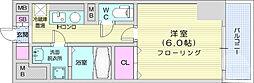 仙台市営南北線 北四番丁駅 徒歩4分の賃貸マンション 10階1Kの間取り