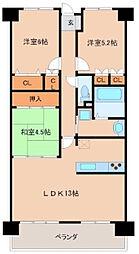 サーパス諏訪野第2[703号室]の間取り
