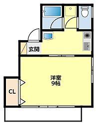 愛知県豊田市陣中町2丁目の賃貸アパートの間取り