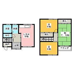 [テラスハウス] 三重県伊勢市神田久志本町 の賃貸【/】の間取り