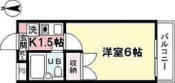 シティパレス上井草[202号室]の間取り
