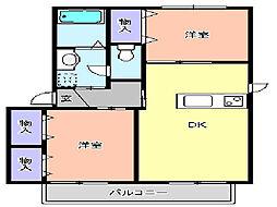 ボンヌシャンス[103号室]の間取り