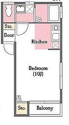 ロイヤルハウス[102号室]の間取り