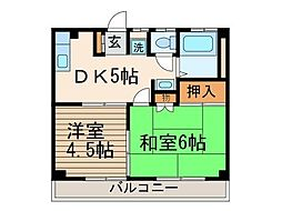 ハイツ藤[3階]の間取り