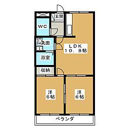 タカネコーボー[3階]の間取り