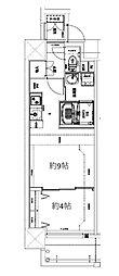 Osaka Metro堺筋線 天神橋筋六丁目駅 徒歩10分の賃貸マンション 2階1DKの間取り