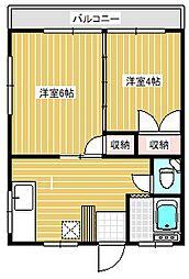 第三荒井荘[203号室]の間取り