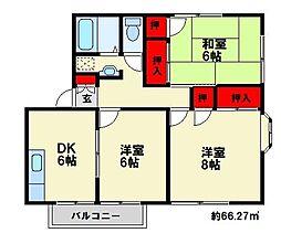 ハミング筒井[2階]の間取り
