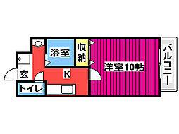 JR仙石線 榴ヶ岡駅 徒歩15分の賃貸マンション 3階1Kの間取り