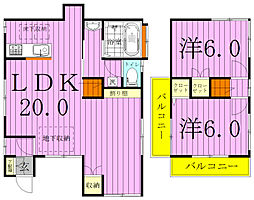 [タウンハウス] 千葉県柏市南増尾5丁目 の賃貸【/】の間取り