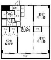 広島県呉市広文化町の賃貸マンションの間取り