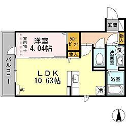 D-room愛宕[2階]の間取り