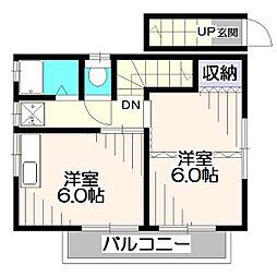 くるみ荘[2階]の間取り
