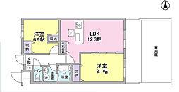 ルネス久宝寺Shibukawa[B102号室]の間取り