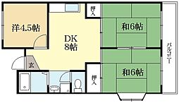 ラフォーレKEGO[1階]の間取り
