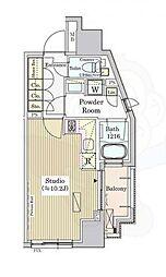 パークアクシス白金 3階ワンルームの間取り