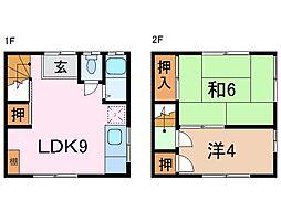 静岡県沼津市大諏訪の賃貸アパートの間取り