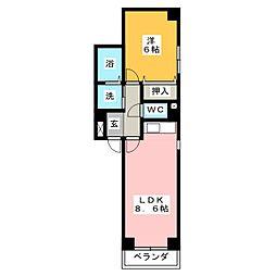 サントル大宝[3階]の間取り