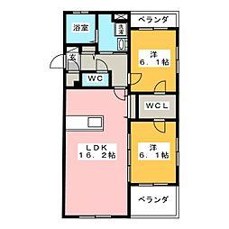 インテグラD[5階]の間取り