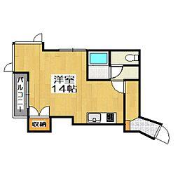 プラザユーホーム[5階]の間取り