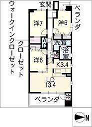 グラン・アベニュー名駅南[7階]の間取り
